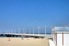 Arcachon jetée Thiers : ciel bleu et sable fin