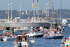 Arcachon : défilé des bateaux pour la fête de la mer