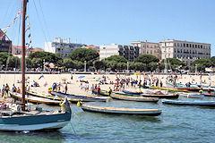 Arcachon -  bateaux prêts pour la fête de al mer