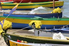 Arcachon - bateaux décorés pour la fête de la mer