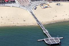 Arcachon : photo aérienne de la jetée Thiers-  www.33-bordeaux.com