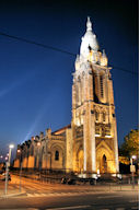 Photo de Bordeaux la nuit : Eglise Sainte Marie Avenue Thiers