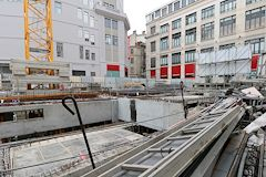 Promenade Sainte Catherine : construction face aux Galeries Lafayette -  photo 33-bordeaux.com