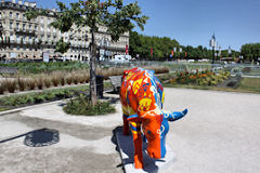 Cow Parade de Bordeaux : vache Caval' Cow, Aéroport de Bordeaux Mérignac
