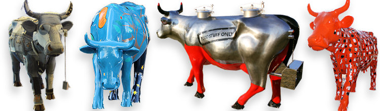Les vaches de la Cow Parade à Bordeaux