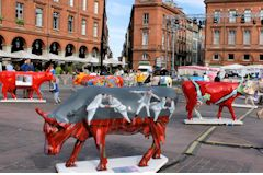 Cow Parade Toulouse place du Capitole