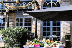 Bordeaux SO Good 2018 fruits et légumes à la terrasse du Grand Hôte l| Photo Bernard Tocheport