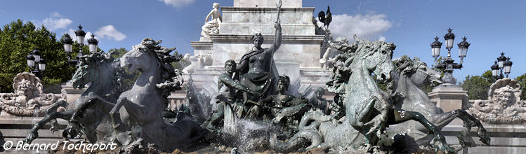 Le triomphe de la République fontaine des Girondins de Bordeaux | Photo Bernard Tocheport