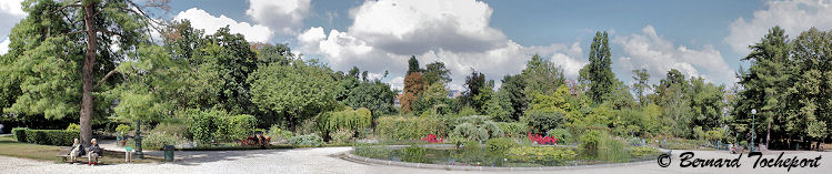 BORDEAUX photo panoramique du jardin public