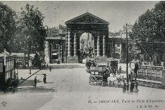 Carte Postale Bordeaux : la place d'Aquitaine en 1903