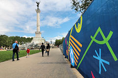 Place des Quinconces Fan Zone de l'Euro 2016 devant la colonne des Girondins | Photo 33-bordeaux.com