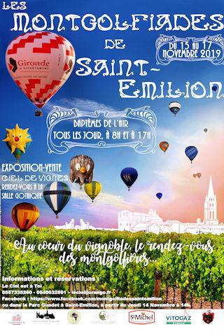 Affiche Montgolfiades de Saint Emilion 2019 | 33-bordeaux.com