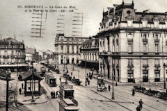 Carte Postale de la Gare du Midi en 1923 | Collection personnelle
