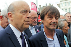 Inauguration LGV Paris Bordeaux : Alain Juppé, Alain Rousset et Nicolas Hulot | photo 33-bordeaux.com