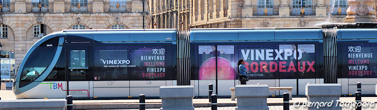 Tramway Salon Vinexpo Bordeaux 2019 | Photo Bernard Tocheport